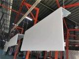 專訂製加油站包柱藍色鋁單板,罩棚檐口米黃鋁單板