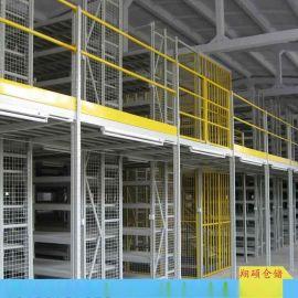 寿光车间双层仓储货架4s店货架/货架平台底部货架 上部平台