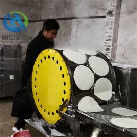 加工定做蛋皮机连续式春卷皮设备 烤鸭饼机