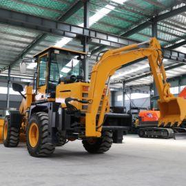厂家供应 两头忙装载机 前装后挖多功能装载机