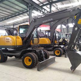 轮式挖掘机厂家直销90型中型轮式挖掘机
