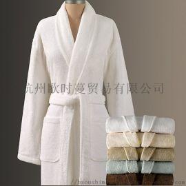厂家直销格纯棉浴袍家用酒店美容院浴袍