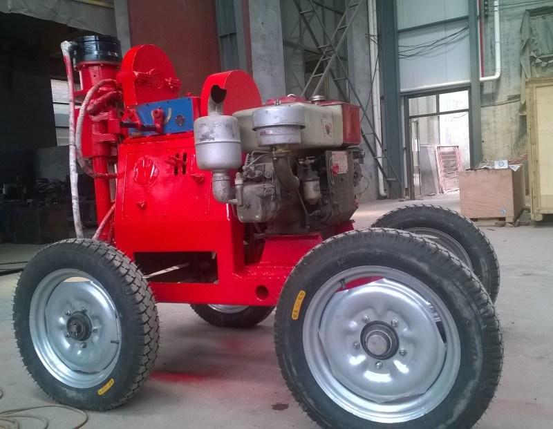 TXU-75行走式探水鑽機-石家莊產帶輪子的鑽機