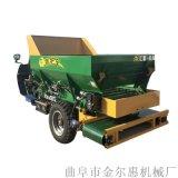 内蒙古牛羊粪抛撒车 8立方有机肥撒肥车
