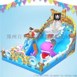 符合小朋友审美的儿童充气滑梯城堡在郑州百美