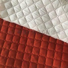 全涤高频压棉压花面料 复合靠枕布沙发布