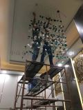 珠宝店酒店宝石吊灯 翡翠绿灯具