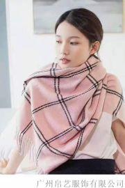 巴宝利风格羊绒围巾 女性围巾 百搭潮流