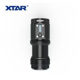 XTAR D08 强光LED专业潜水水下摄影手电筒