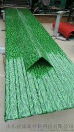 围挡  小草印花印花彩钢板 山东滨州0.5*1000印花彩钢板 环保色小草印花彩钢板