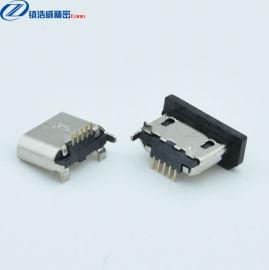 MICRO连接器 母座 5P 立式贴板