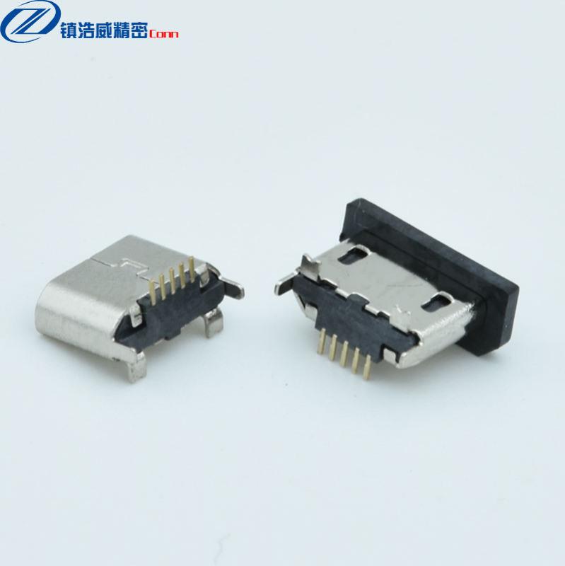 MICRO連接器 母座 5P 立式貼板