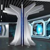 科技館白色2.5厚鋁單板立柱 報告廳白色勾搭鋁單板