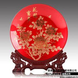 红梅陶瓷挂盘 六十公分纪念品盘子工厂