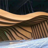 幕墙造型烤漆弧形铝方通 休闲场所弧形铝方通装饰特点