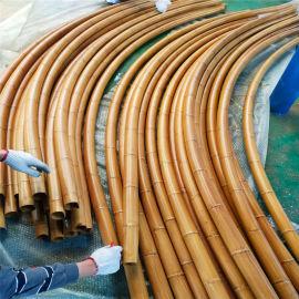仿木纹铝合金圆管吊顶 仿木纹竹节铝圆管造型图案