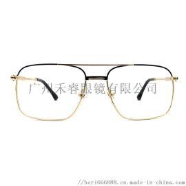 时尚金属双色电镀眼镜框商务男士新款