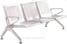 304不锈钢座椅室外-连体排椅-钢制三人位