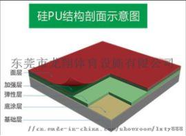 硅PU篮球场。运动球场铺设,球场材料加工生产