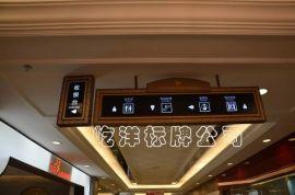 厂家提供商场吊牌灯箱 贴墙牌