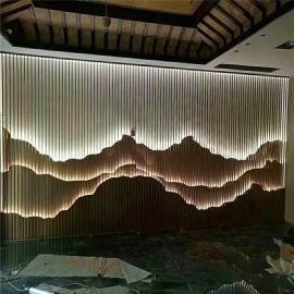 碧桂园背景墙透光造型假山 花园假山透光背景墙定制