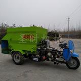 省时省工牛羊电动撒料车厂家小型三轮多功能柴油喂料车