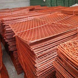 钢芭片 代替竹子搭建的走道板 菱形网