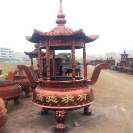 温州圆形香炉厂家;圆形六龙柱香炉生产供应厂家