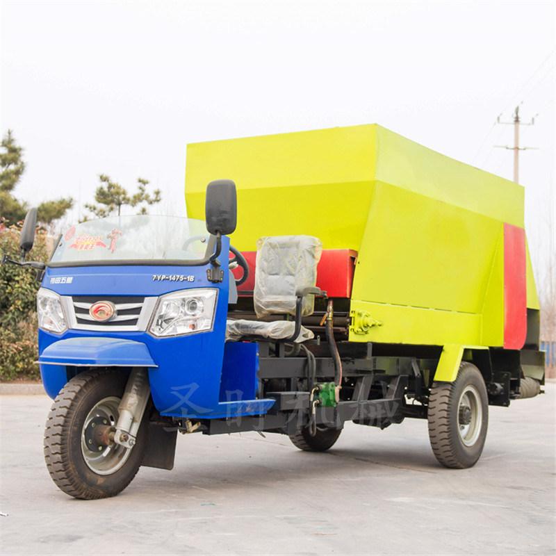 5立方柴油三轮自走式小型多功能撒料车直销