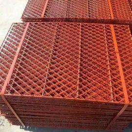 冲孔板菱形网 建筑高层防护网  钢芭片