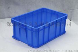 供应斜插式塑料物流箱翻盖周转箱加厚大号优质运输箱