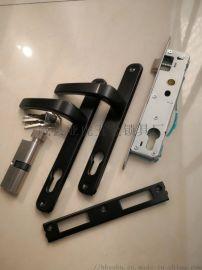 塑钢门锁8525平开门执手锁锁插芯门锁塑钢门把手门锁