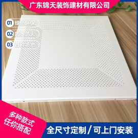 供应哑光白色微孔铝扣板金属天花板机房  微孔铝天花