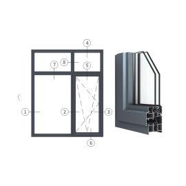 广东兴发铝材创高AL5918A|B系列内开内倒窗
