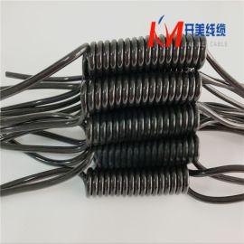 PVC弹弓线 TPU 带钢丝防丢弹簧线 螺旋电缆