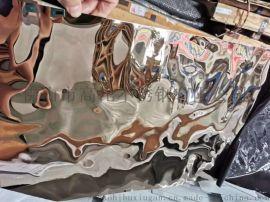 不锈钢水波纹板-天花装饰彩色不锈钢水波纹板