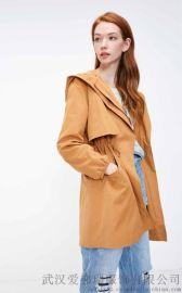 广东女装拿货微信亮点国际20年春装新款女式风衣外套