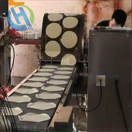 不锈钢面皮机  连续式春卷皮设备 全自动烤鸭饼机