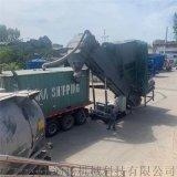 濮陽集裝箱粉煤灰轉運卸車設備環保型水泥粉料卸車機