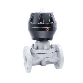 进口法兰气动隔膜阀-开关型-软密封-塑料-水处理