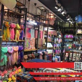 黑龙江服装货架上墙立柱组合展示架km服装展示架