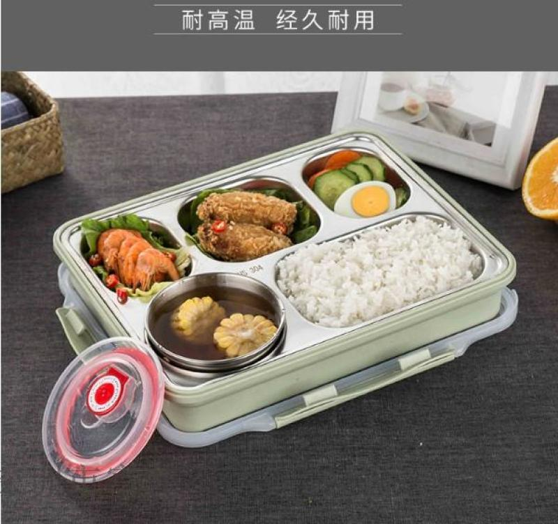 304不鏽鋼飯盒 快餐分格餐盒學生防燙密封快餐盒
