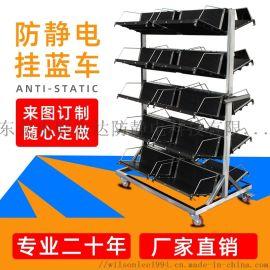 ESD防靜電周轉車PCB板周轉架儲存架車SMT料架