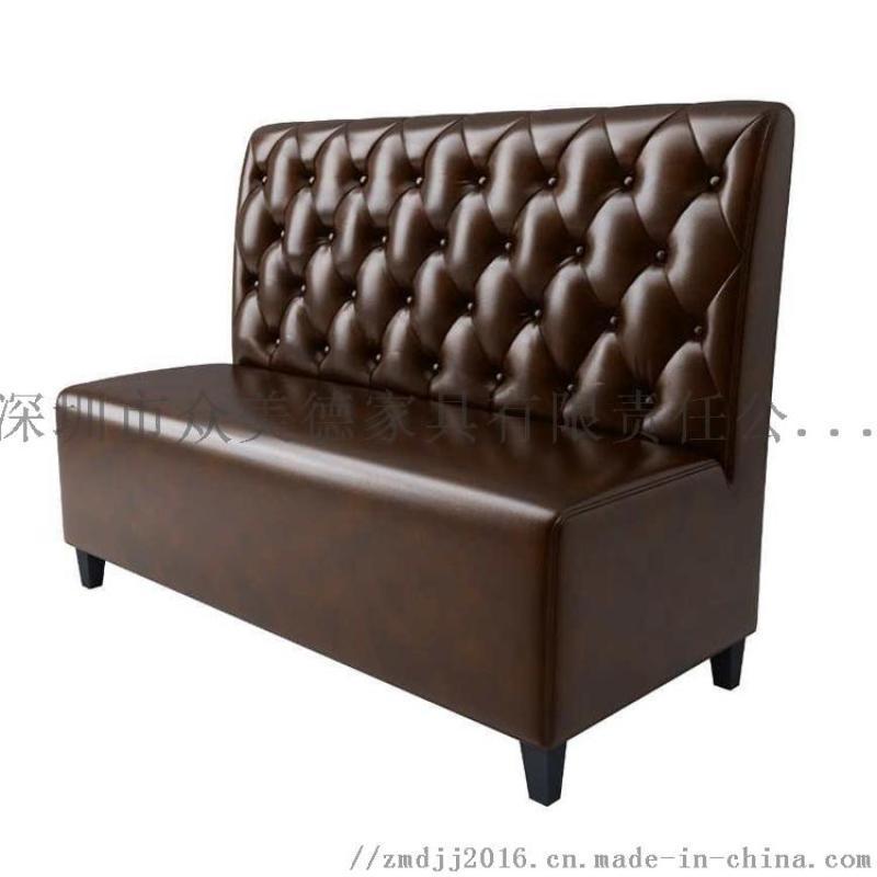餐饮店卡座沙发,定制餐厅沙发,饭店卡位梳化订造