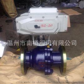 厂家直销不锈钢304材质法兰电动球阀