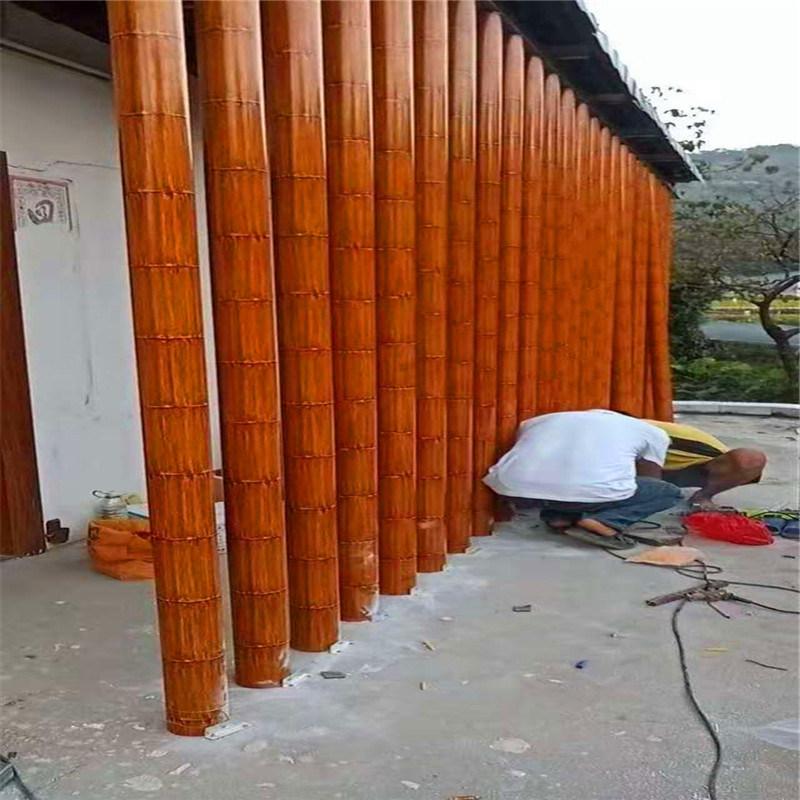 教學樓仿竹紋鋁合金護欄 博物館金屬仿竹子護欄