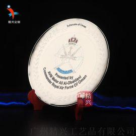 铜质奖牌办公摆件纪念盘 武汉抗疫金属铜盘订制