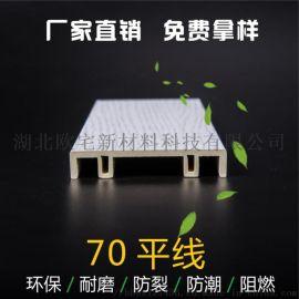 厂家直销70平线竹木纤维装饰线条