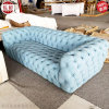 多人位沙發 紐扣 北歐現代古典 布藝皮革多人位沙發
