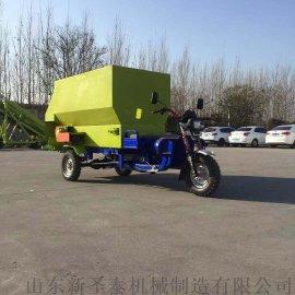 生产定做环保型电动撒料车 牛羊  撒料车